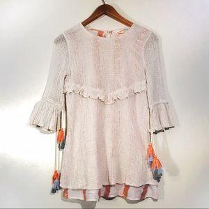 50% Off Sale🎉 Zara Raglan Cream Knitted Top